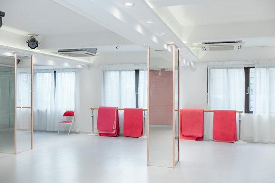 Empty dance practice room