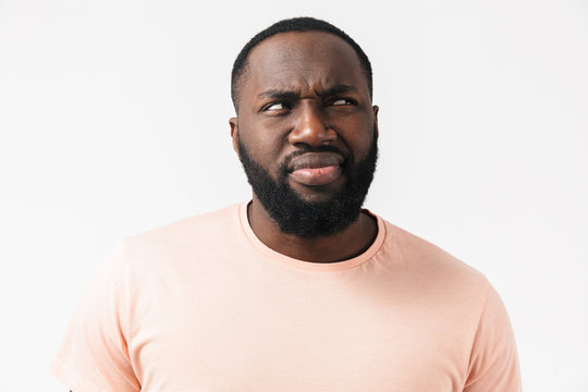 Portrait of a confused african man