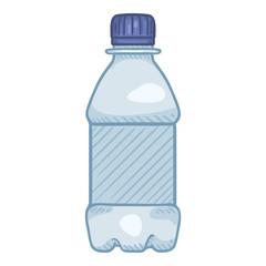 Vector Cartoon Illustration - Small Plastic Bottle.