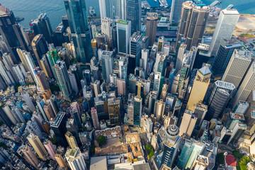 Aerial view of Hong Kong city Wall mural