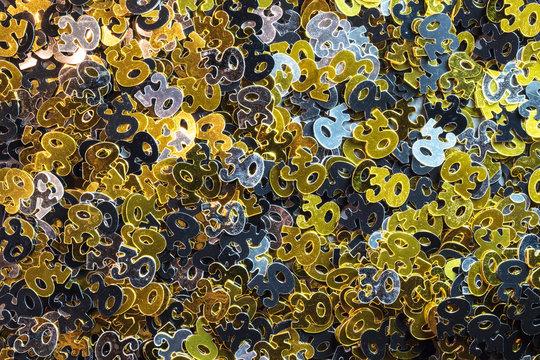 30th anniversary confetti background