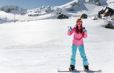 Snowboarder woman