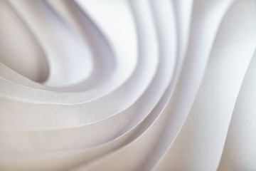Modern wave pattern paper sculpture