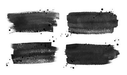 Fototapeta Hand drawn watercolor brushstrokes banners obraz