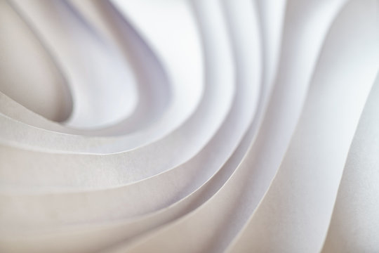 Modern wave pattern paper sculpture