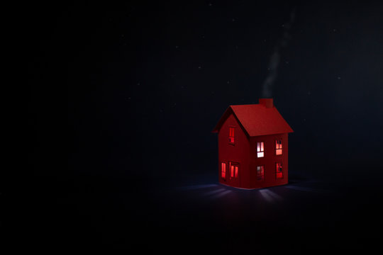 The Red House, landscape format...