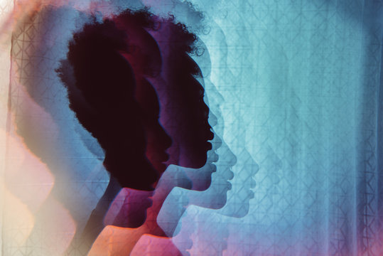 Prismatic images of a young African American woman