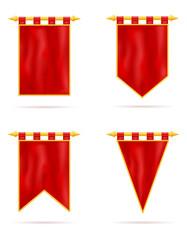 royal flag realistic template empty blank stock vector illustration
