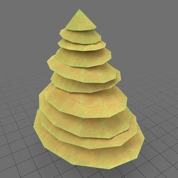 Stylized pine tree