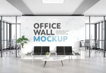 Waiting Room in Modern Office Mockup