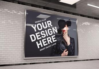 Horizontal Underground Billboard Mockup