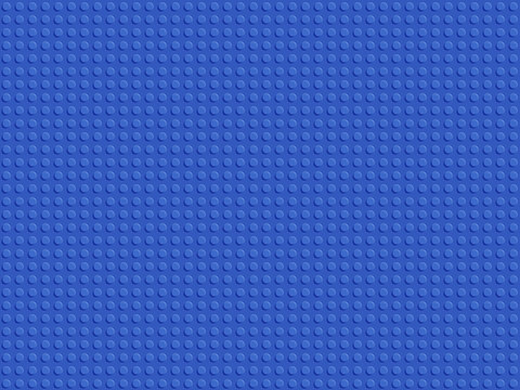 Blue plastic constructor seamless pattern. Abstract background blocks plate flat design