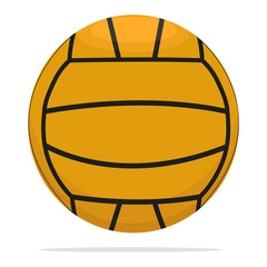 Volleyball ball vector icon. Game ball concept illustration. Orange ball realistic style design, designed for web and app. Eps 10.