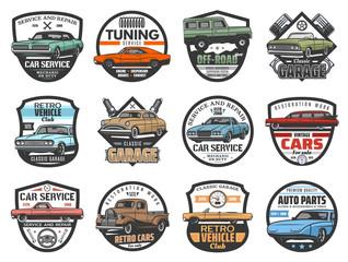 Car repair service, vintage automobile club