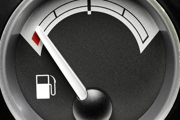 fuel gauge in truck dashboard - empty