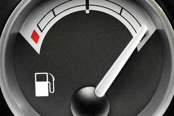 fuel gauge in truck dashboard - full