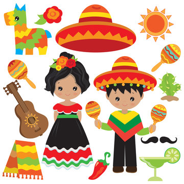 Cinco de mayo vector cartoon illustration