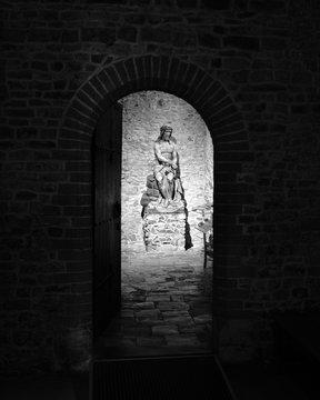 Statue of Jesus in Basilica of the Holy Blood, Burg, Bruges, Belgium, Europe