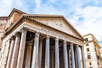 Pantheon - former roman church, Rome, Italy