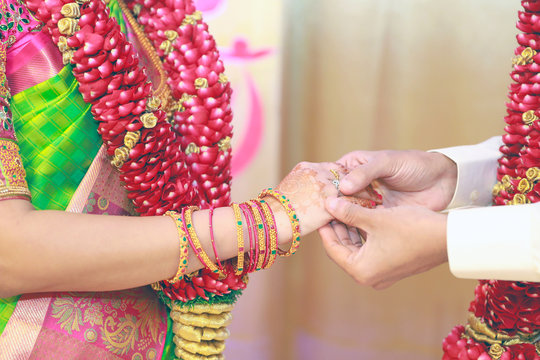 South Indian family wedding and engagement concept