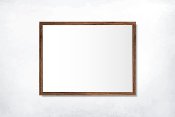 Simple blank frame on the wall