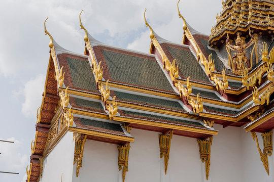 Rooftop Ornamentation at Grand Palace in Bangkok, Thailand