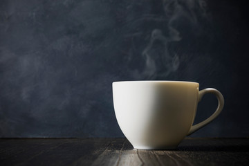 コーヒー Coffee cup on dark background