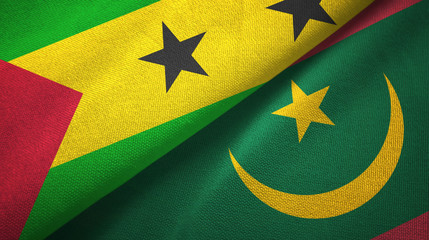 Sao Tome and Principe and Mauritania two flags
