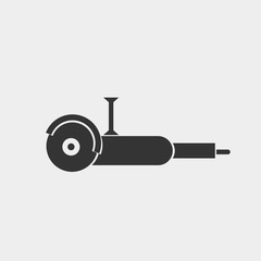 Angle grinder vector icon illustration sign
