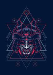 samurai mask sacred geometry