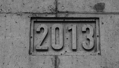 2013 Jahreszahl in Stein
