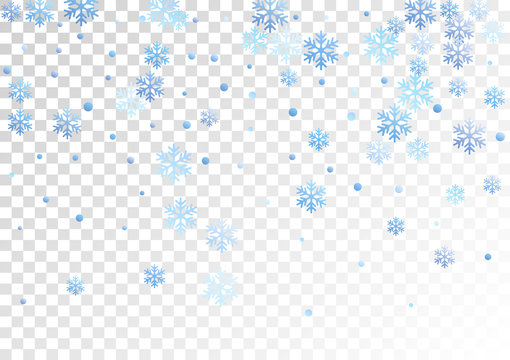 Crystal snowflake and circle shapes vector graphics.