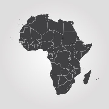 Map of Africa. Vector illustration. World map