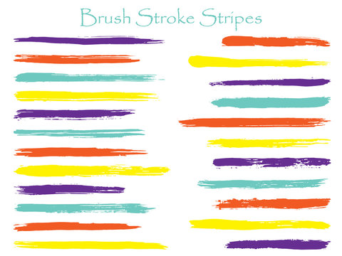 Minimalistic ink red brush stroke stripes