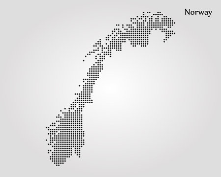 Map of Norway. Vector illustration. World map