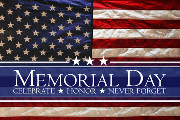 American flag Memorial day background