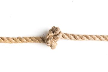 nautical rope knot isolated on white background.