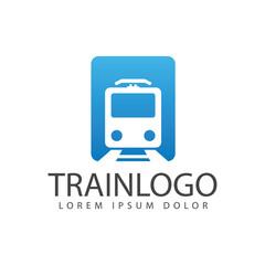 Train railway, Subway Train icon, logo isolated on white background. vector illustration - Vector