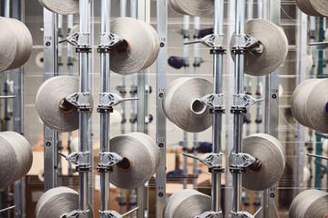 Textile factory white yarn fiber Fotomurales