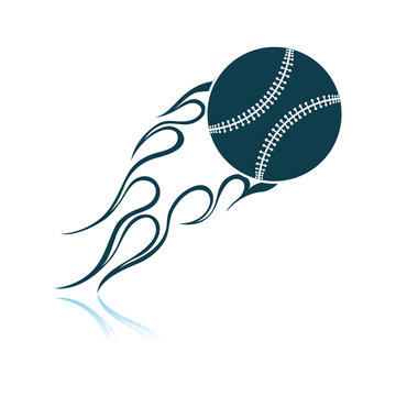Baseball Fire Ball Icon