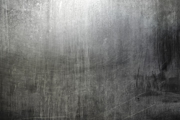 Distreesed metallic scraped wall texture or background