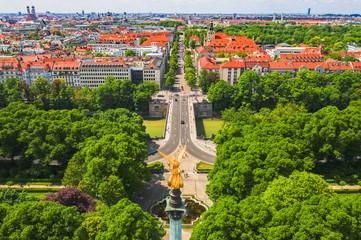 München Friedensengel mit Prinzregentenstraße