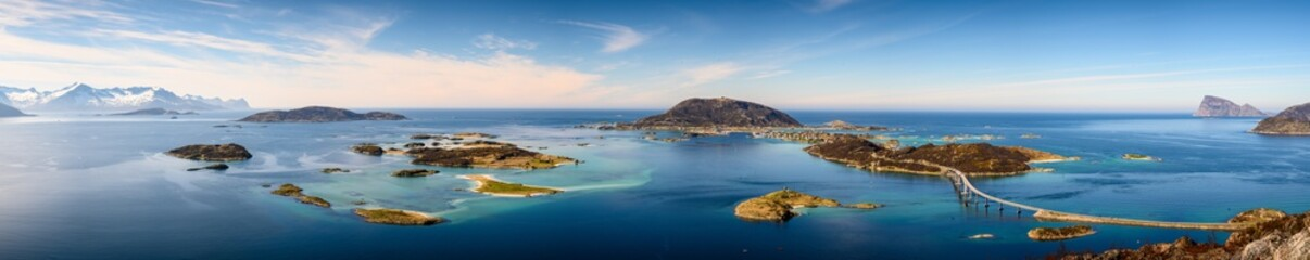 Photo sur Toile Bleu jean Beautiful view of islands - Sommaroy in Troms, North Norway