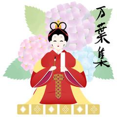 万葉集イメージ 奈良時代の女性