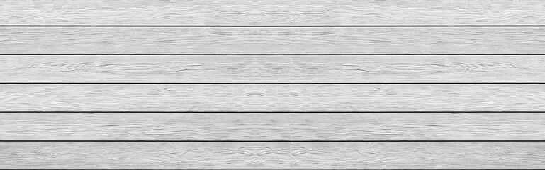 Panorama of White wood fence texture and background