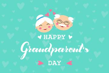Happy Grandparent Day vector illustration.