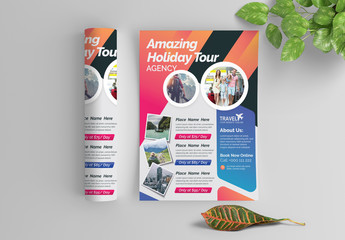 Brightly Colored Agency Flyer Layout