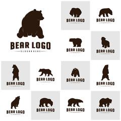 Se of Bear Logo Icon Designs Vector. Bears Logo Concepts. Icon Symbol.