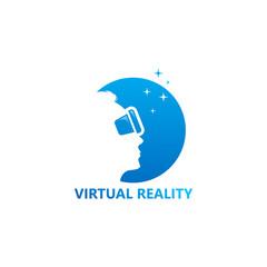 Virtual Reality Logo Template Design Vector, Emblem, Design Concept, Creative Symbol, Icon