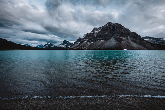 Bow Lake and Crowfoot Mountain, Canada